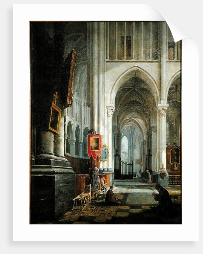 Interior of St. Omer Cathedral, 1836 by Hippolyte Joseph Cuvelier