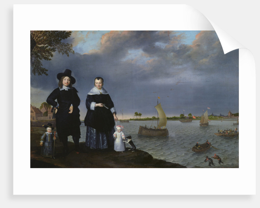 A Shipowner and his Family, 1650 by Abraham Willaerts