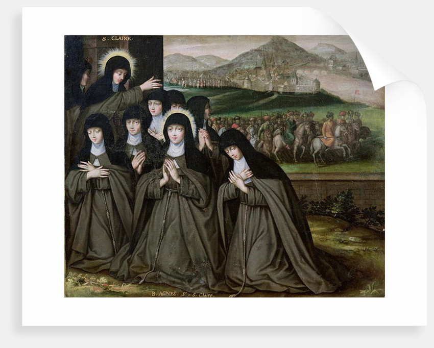 St. Claire with her Sister, Agnes and Nuns by French School
