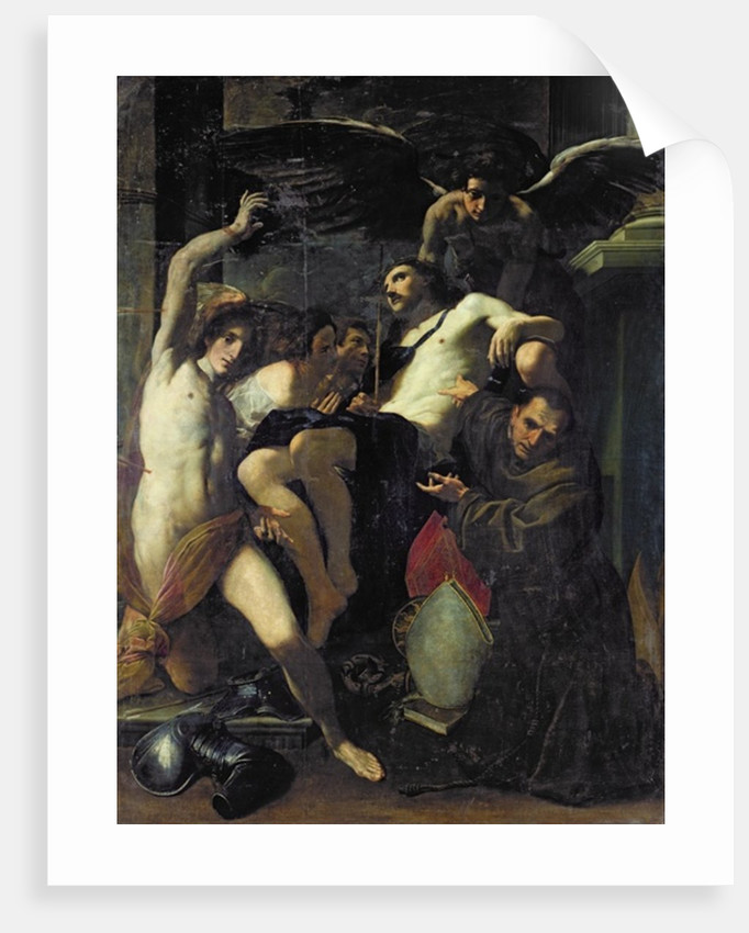 Christ Adored by Angels, St. Sebastian and St. Bonaventure by Carlo Bononi