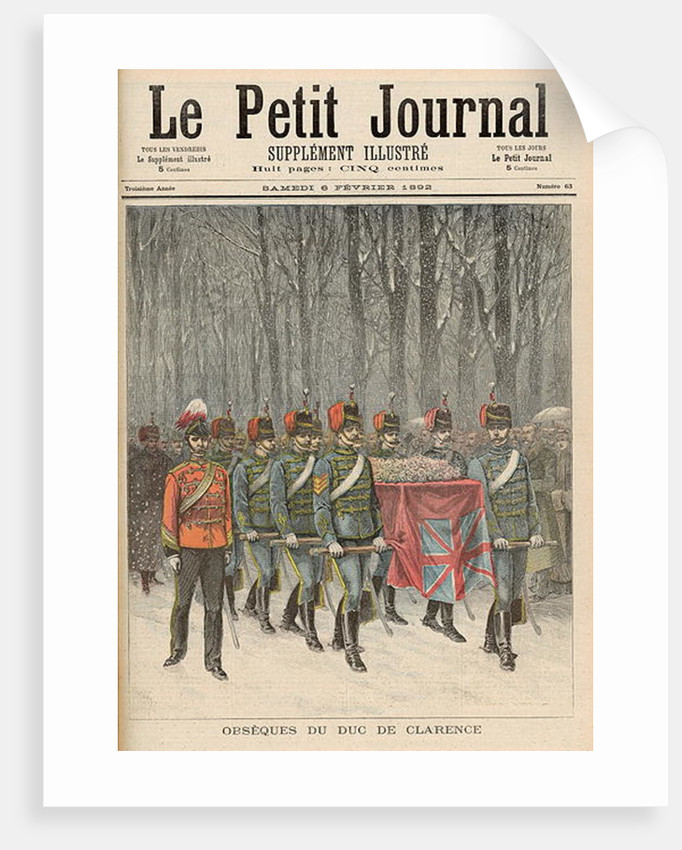 Funeral of Albert Victor Duke of Clarence by French School