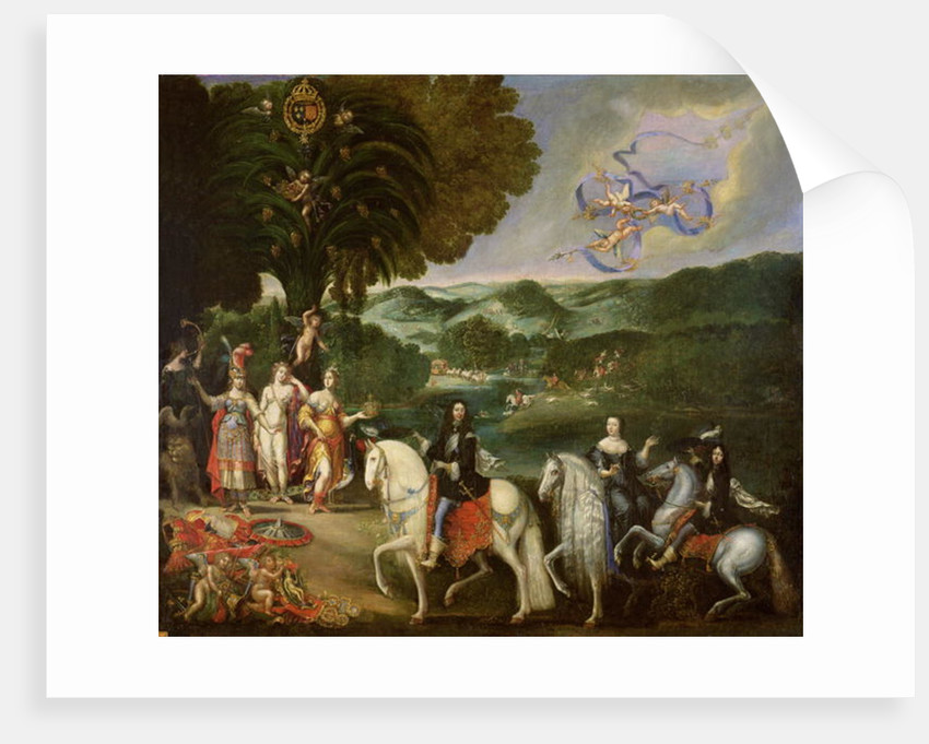 Allegory of the Marriage of Louis XIV in 1631 by Claude Deruet