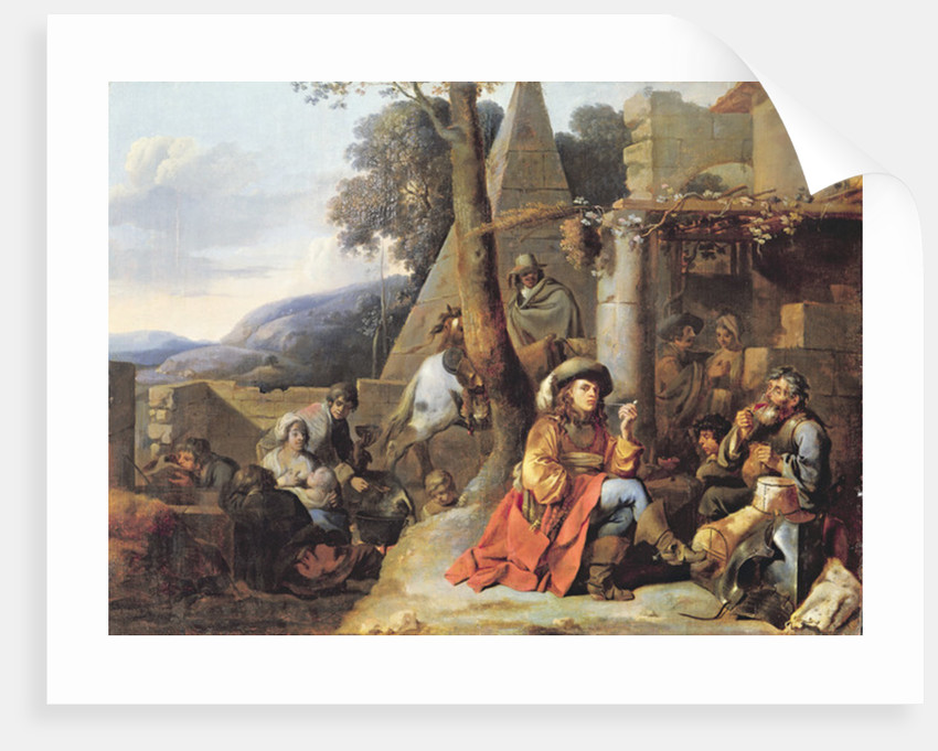 Bohemians and Soldiers at Rest by Sebastien Bourdon