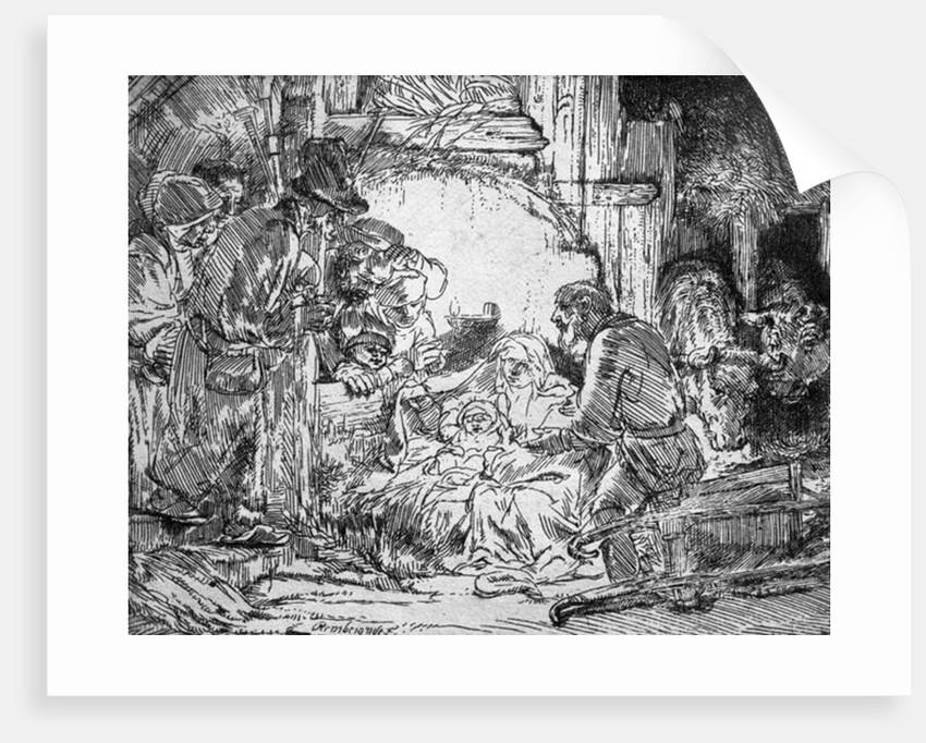 Nativity by Rembrandt Harmensz. van Rijn