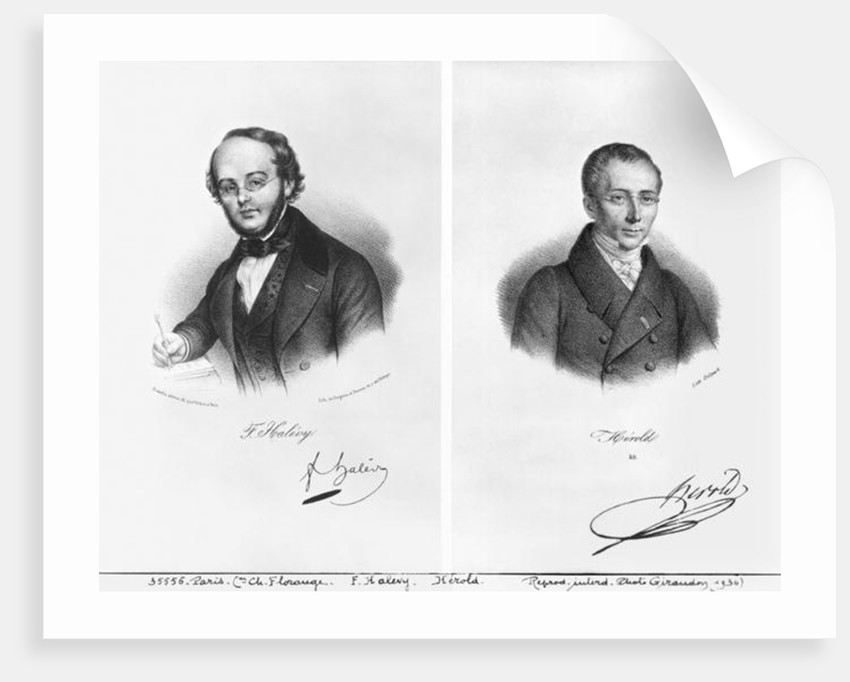 Jacques Fromental Halevy and Ferdinand Herold by Francois Seraphin Delpech