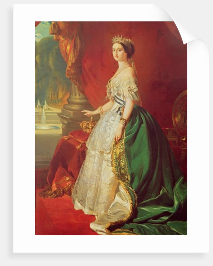 Empress Eugenie after a portrait by Francois Xavier Winterhalter by Francois Gabriel Guillaume Lepaulle