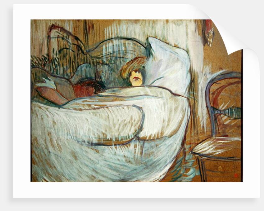 In Bed by Henri de Toulouse-Lautrec