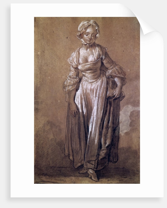 Standing Young Girl by Jean Baptiste Greuze