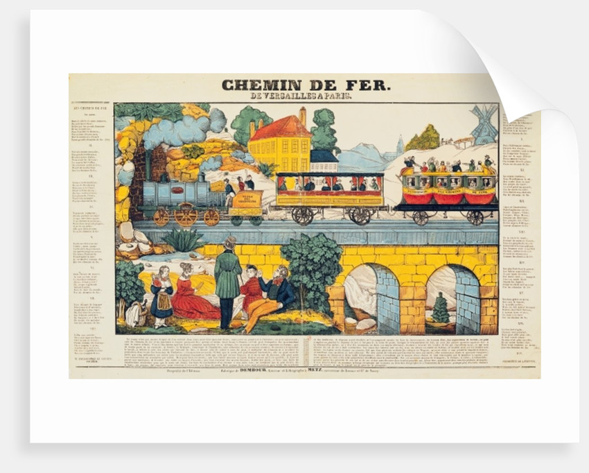 The Versailles to Paris Railway by French School