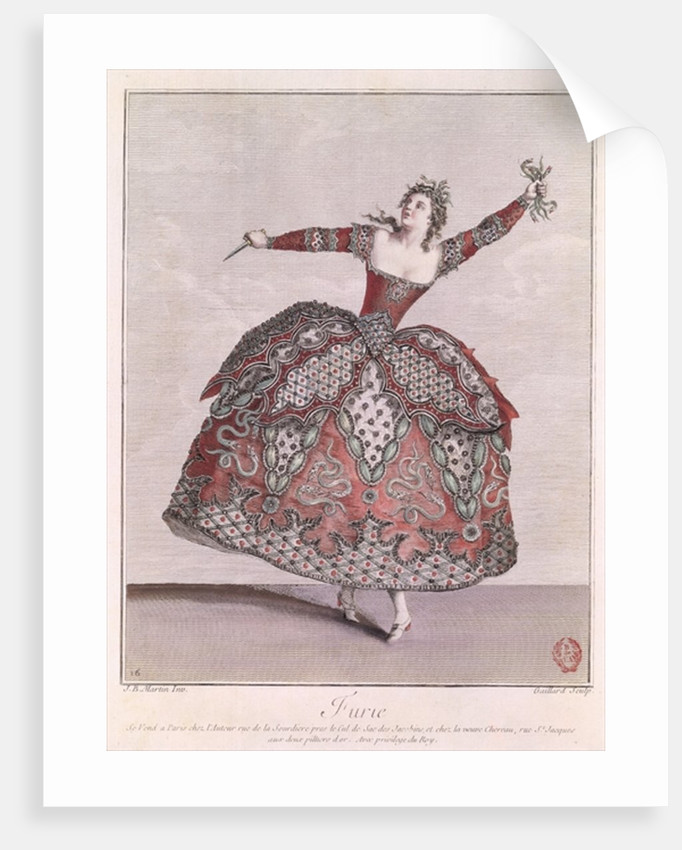Costume design for a Fury in 'Hippolyte et Aricie' by Jean-Philippe Rameau by Jean Baptiste Martin