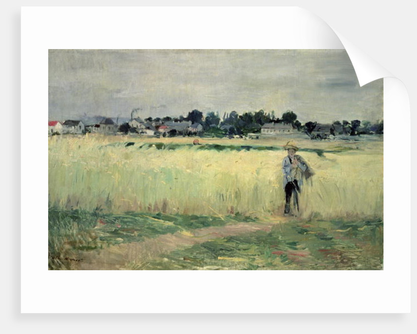 In the Wheatfield at Gennevilliers by Berthe Morisot