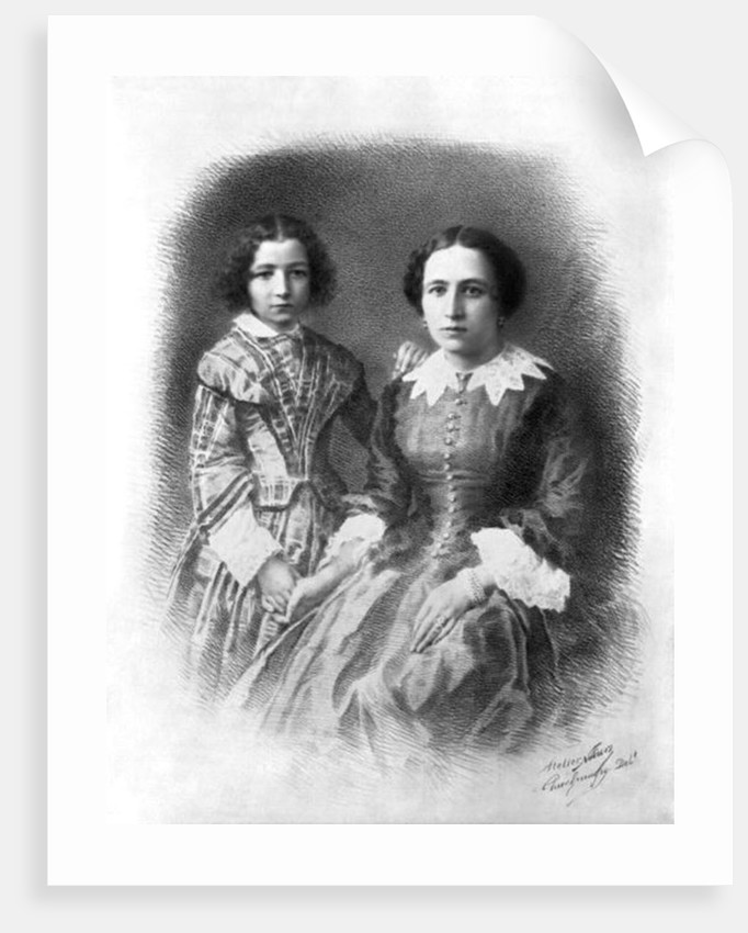 Sarah Bernhardt and her mother? by Nadar
