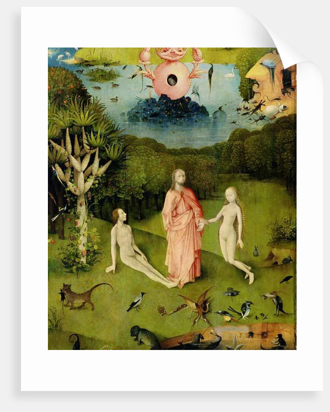 The Garden of Earthly Delights The Garden of Eden, left wing of triptych