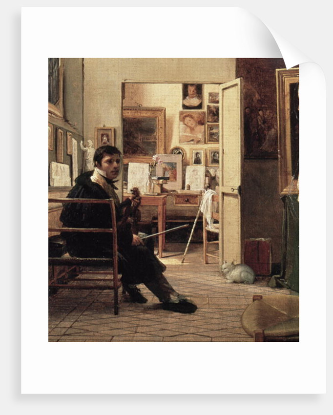 The Studio of Ingres in Rome by Jean Alaux