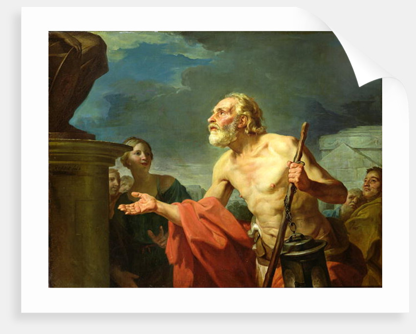 Diogenes Asking for Alms by Jean Bernard Restout