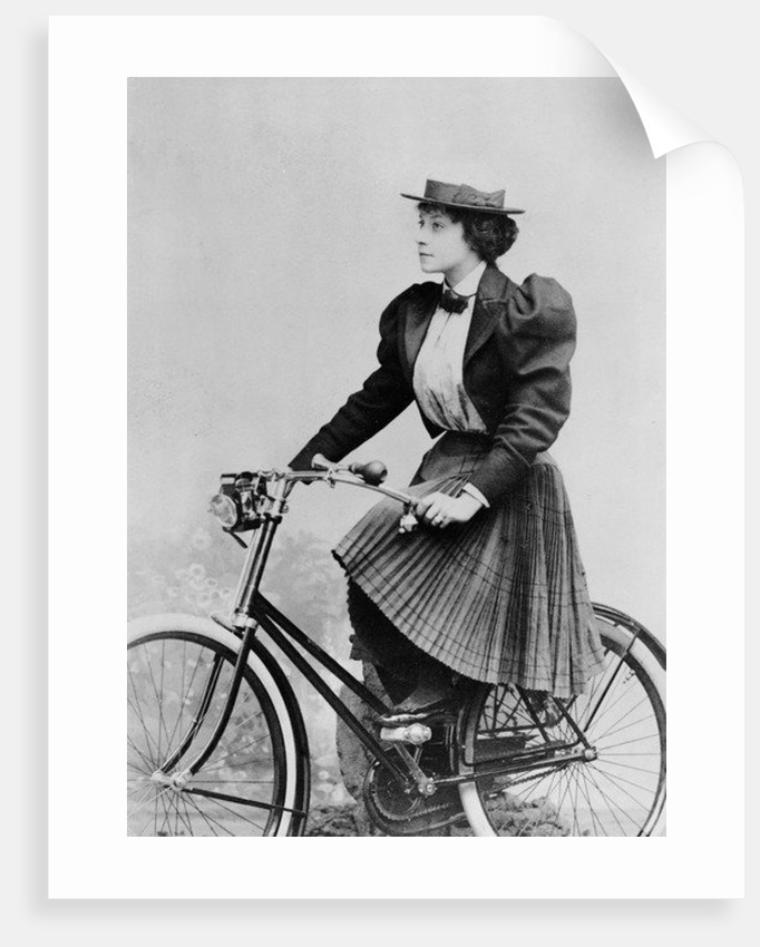 Julia Denis on a bicycle by Benque Studio