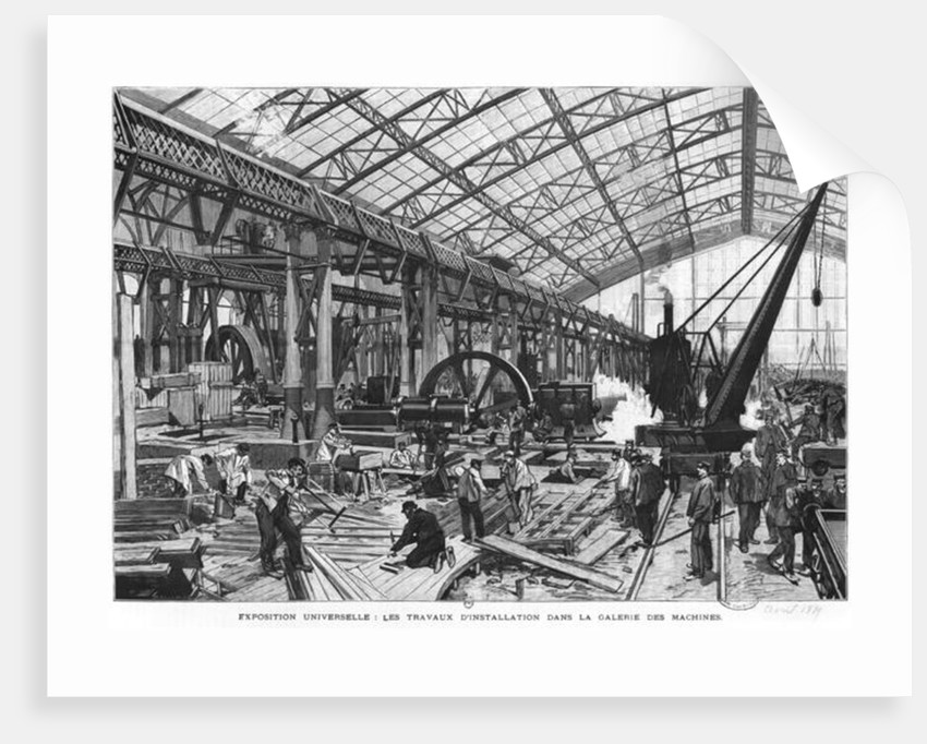 Building site of the Galerie des Machines at the Universal Exhibition of 1889, Paris by French School