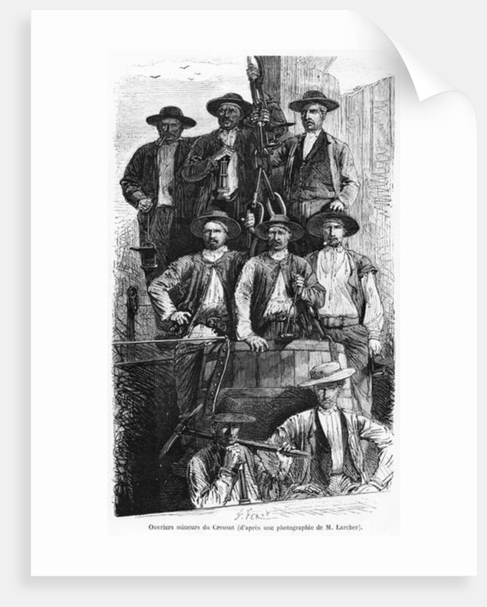 Coal Miners of Le Creusot during the Second Empire by Jules Ferat