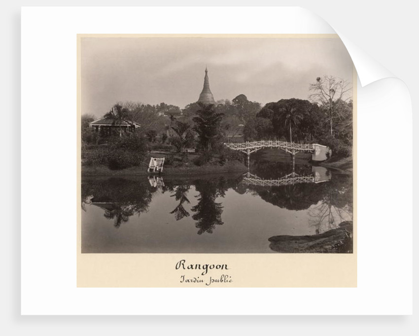 Island pavilion in the Cantanement Garden, Rangoon, Burma, late 19th century by Philip Adolphe Klier