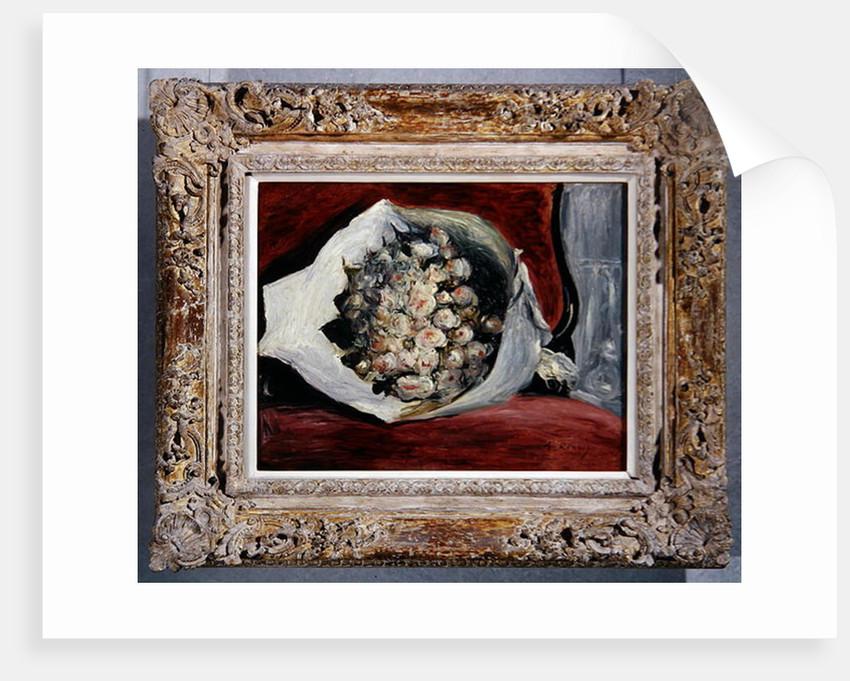 Bouquet in a theatre box by Pierre Auguste Renoir