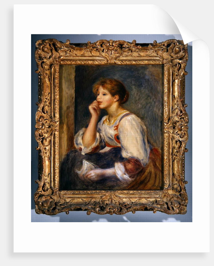 Woman with a letter by Pierre Auguste Renoir