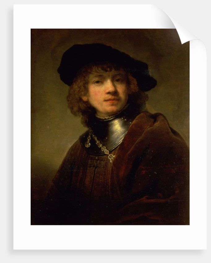 'Tronie' of a Young Man with Gorget and Beret by Rembrandt Harmensz. van Rijn