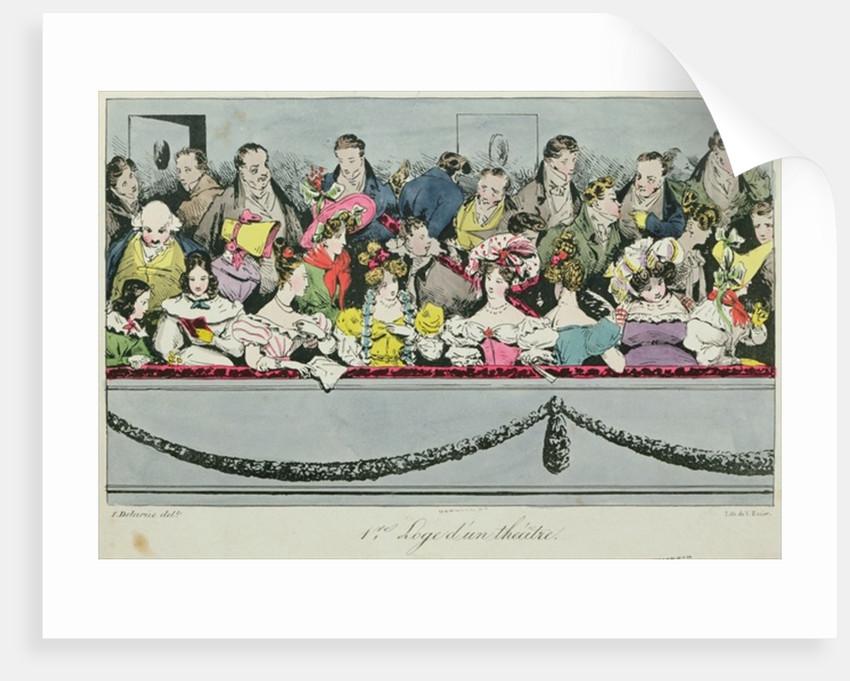 Premiere Loge d'un theatre by Fortune Delarue