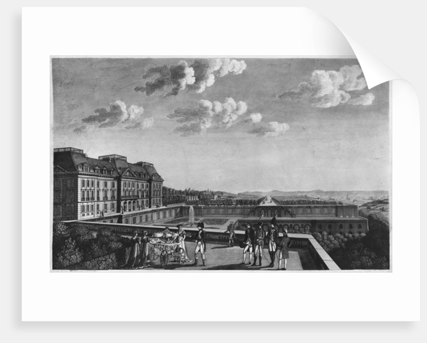 First steps of King of Rome on the terrace of Saint-Cloud by French School