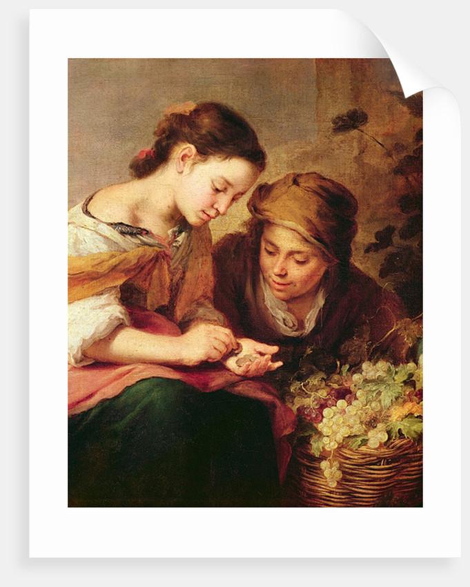 Detail of The Little Fruit-Seller by Bartolome Esteban Murillo