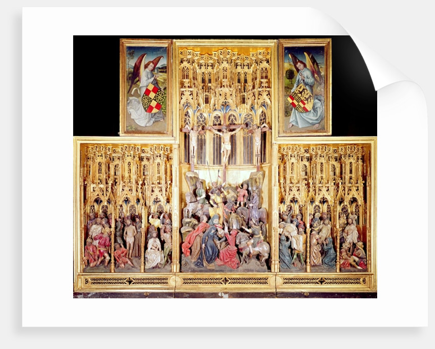 Central section of the Ambierle Altarpiece by Flemish School