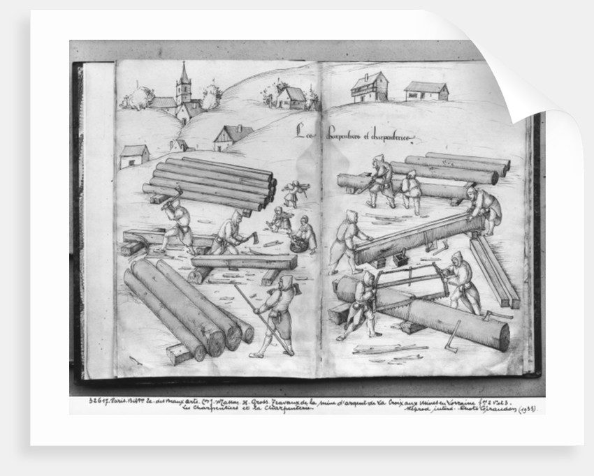 Silver mine of La Croix-aux-Mines, Lorraine, carpenters and carpentry by Heinrich Gross or Groff