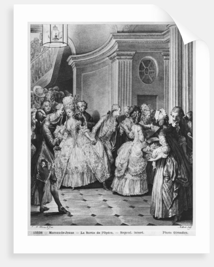 Coming out of the Opera by Jean Michel the Younger Moreau
