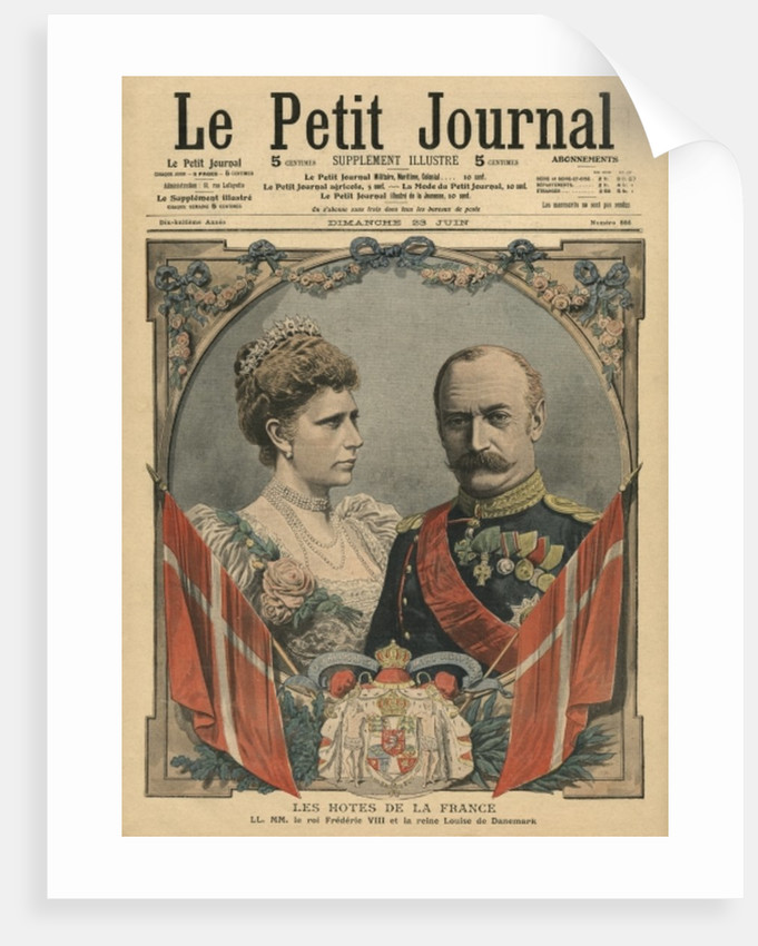 Guests of France, King Frederick VIII and Queen Louise of Denmark by French School