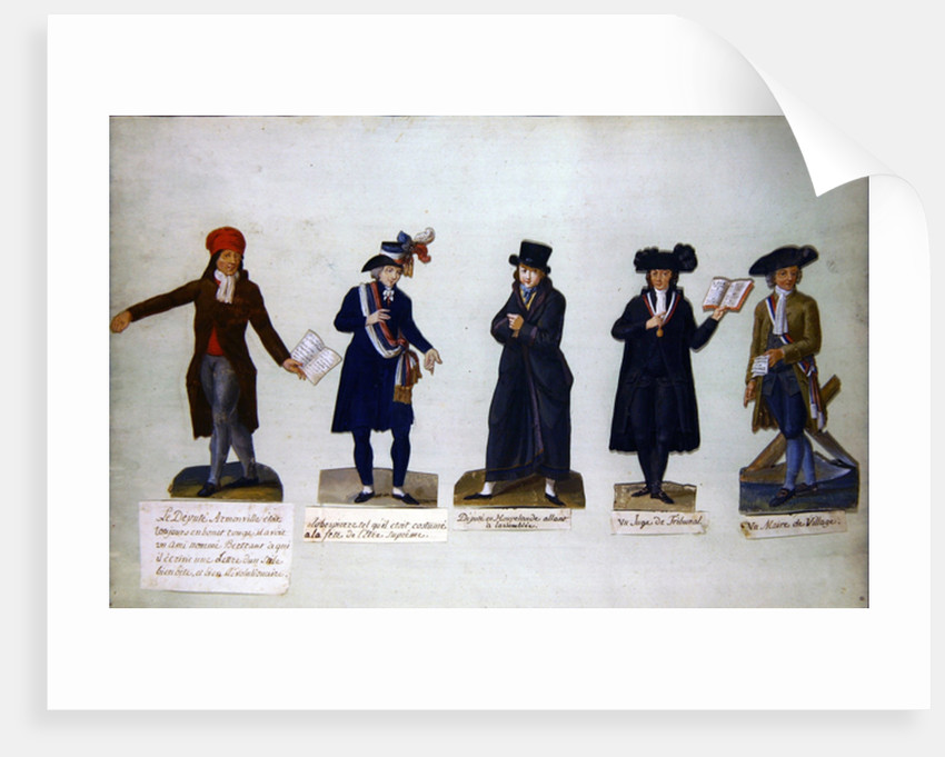Deputy Armonville, Robespierre and officials form the period of the French Revolution by P. A. & Lesueur