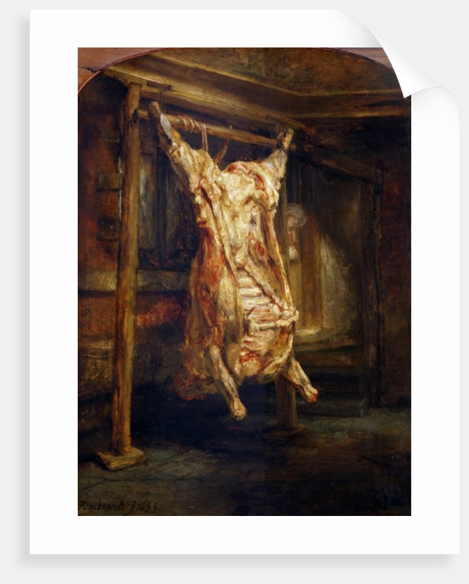 The Slaughtered Ox by Rembrandt Harmensz. van Rijn