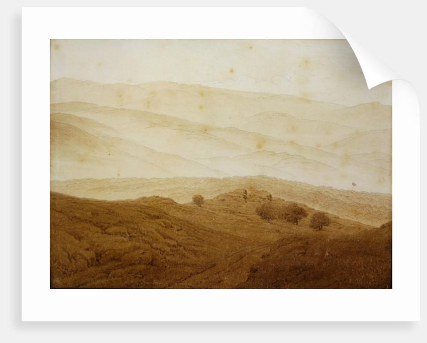 Mountain landscape near Teplitz by Caspar David Friedrich