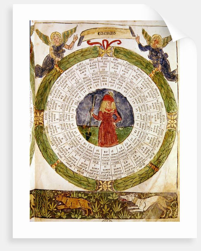 Astrological Table of Venus by Italian School