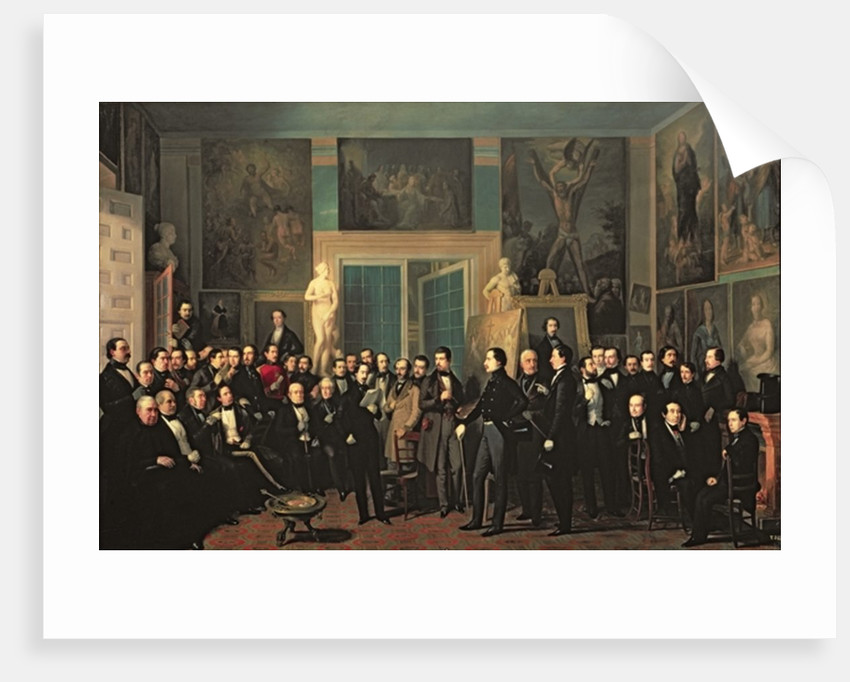 The Gathering of the Poets by Antonio Maria Esquivel