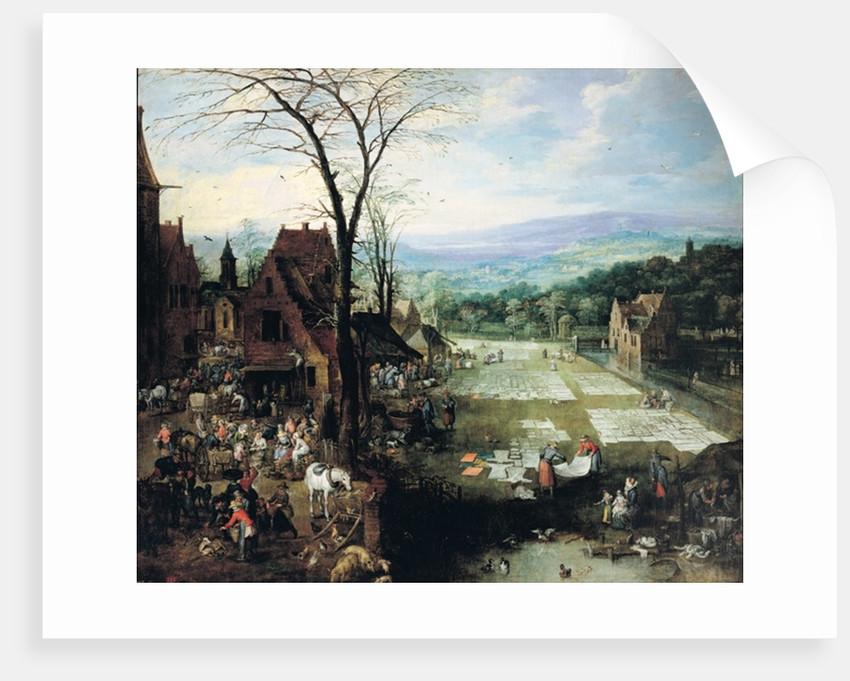 Market and Bleaching Ground by Joos or Josse de