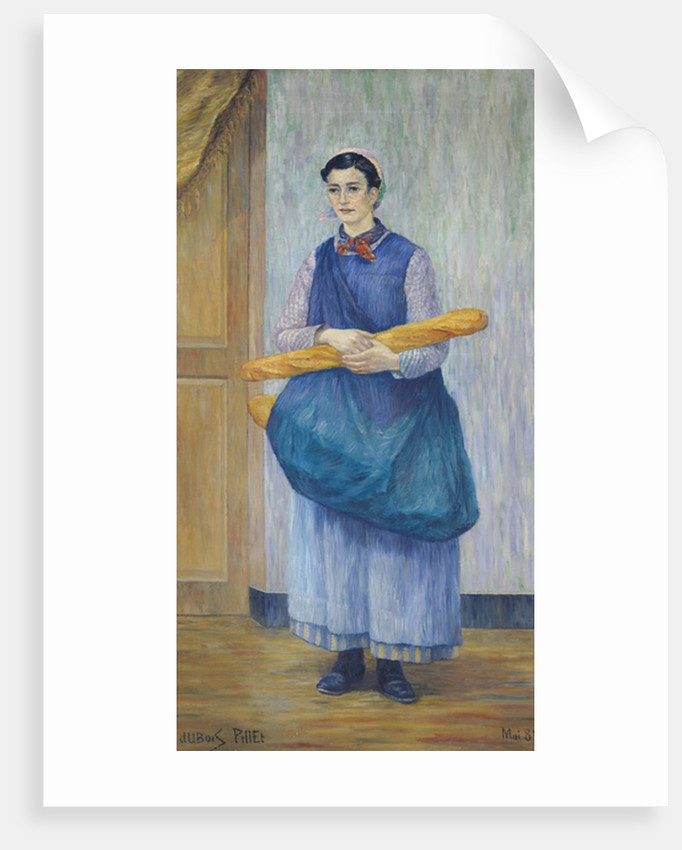 Lady Carrying Bread by Albert Dubois-Pillet