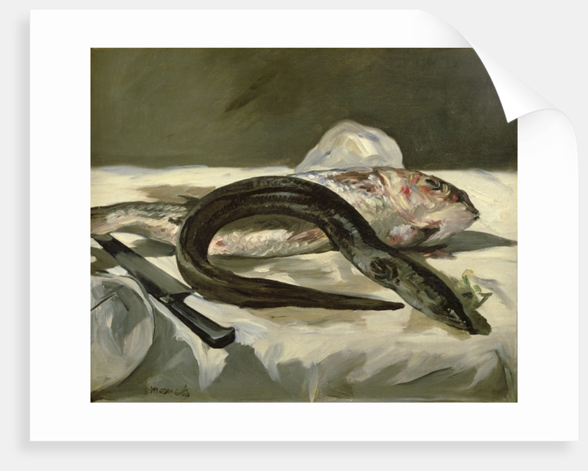 Eel and Red Mullet by Edouard Manet