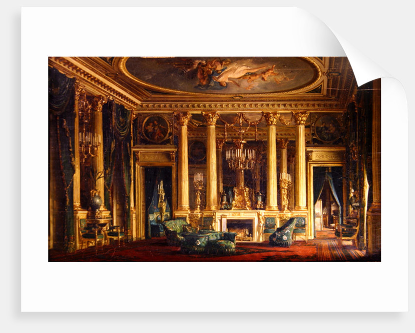 A Salon in the Hotel of Monsieur Basile Parent, Place Vendome, Paris by Charles Giraud