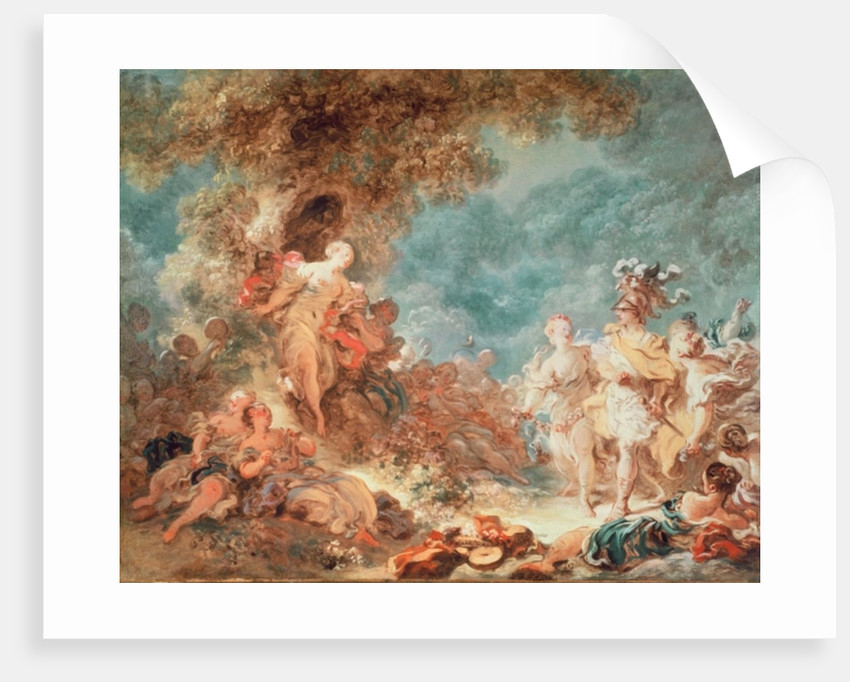 Rinaldo in the garden of the palace of Armida by Jean-Honore Fragonard