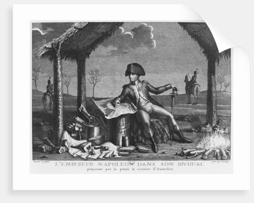 Bivouac of Emperor Napoleon I planning the victory of Austerlitz by Jean Baptiste Verzy