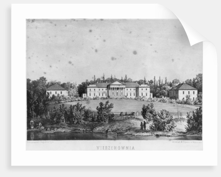 The Castle of Wierzchownia, residence of Countess Evelina Hanska, wife of the French novelist Honore de Balzac by Napoleon Orda