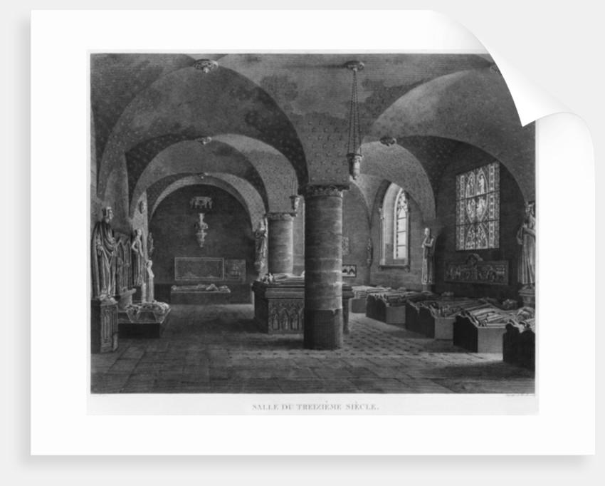 The 13th century room, Musee des Monuments Francais, Paris by Jean Lubin Vauzelle