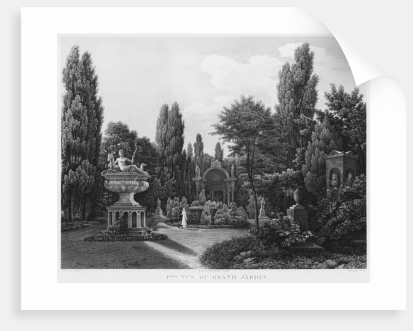 First view of the great garden, Musee des Monuments Francais by Jean Lubin Vauzelle