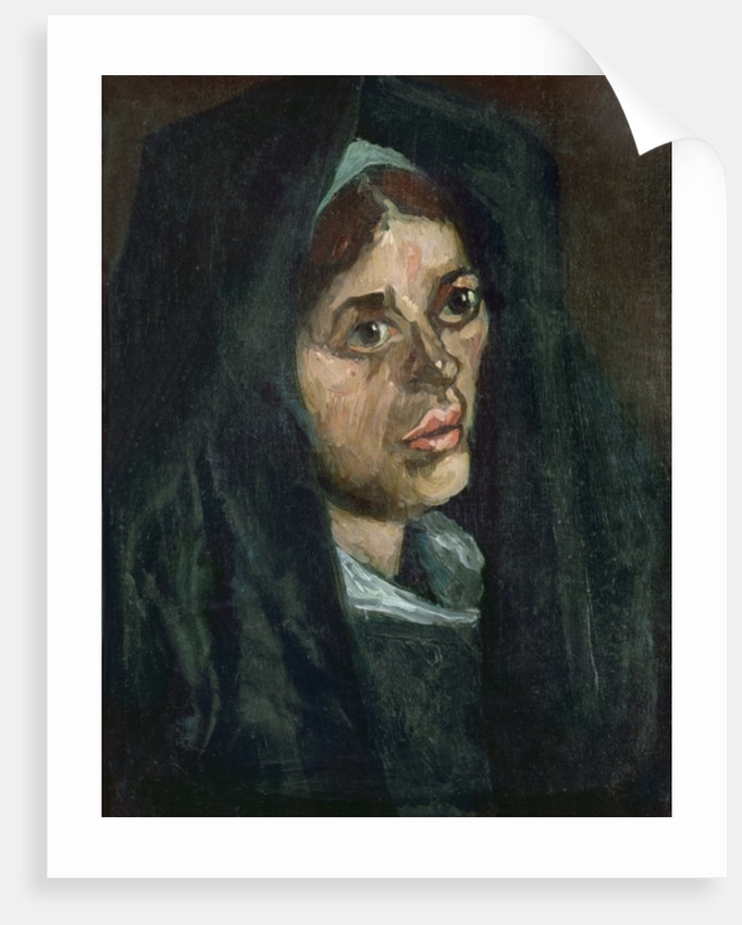 Peasant with moss green shawl by Vincent van Gogh