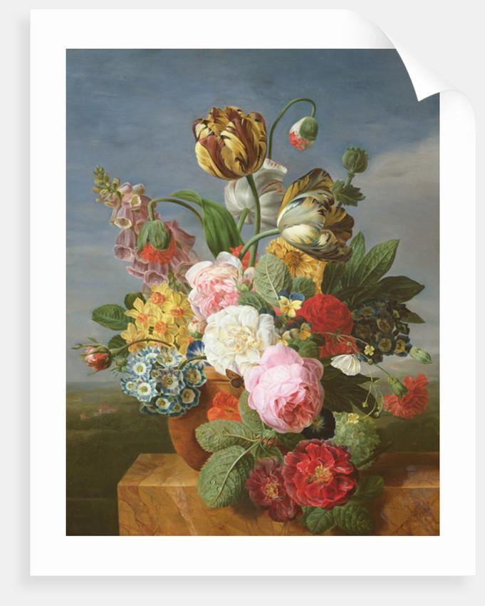 Bouquet Of Flowers In A Vase Posters Prints By Jan Frans Van Dael