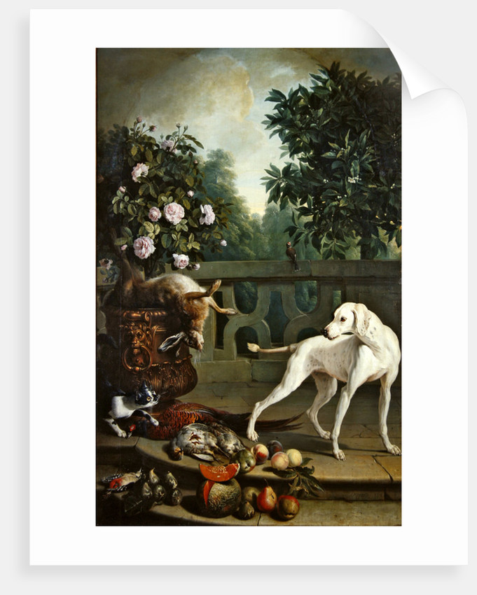Animals, flowers and fruits by Alexandre-Francois Desportes